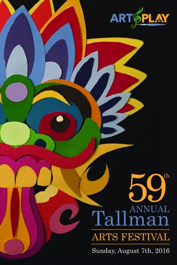 Official 2016 Tallman Arts Festival Poster