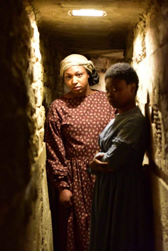 Actresses Tatyana Covington and Janiyah Moore Portray Women on the Underground Railroad - Photo by Lee Ann Hare