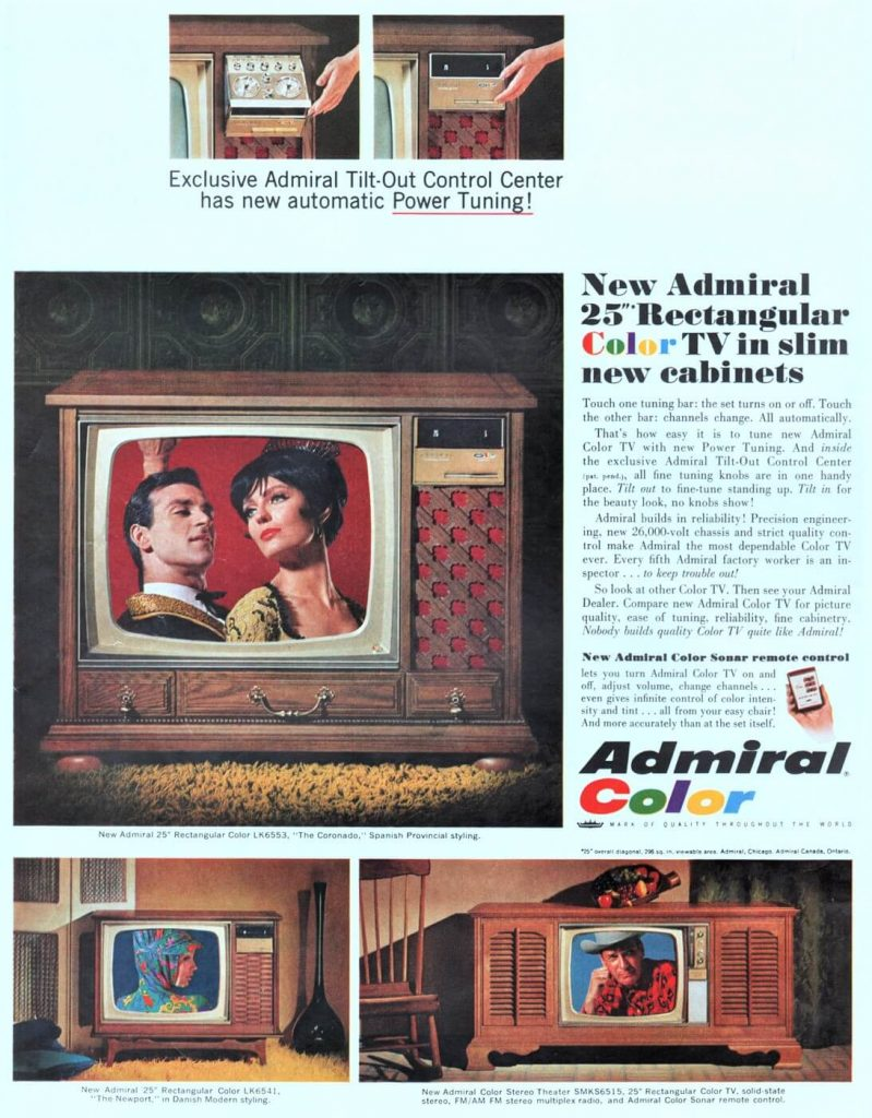 Admiral TV Ad from 1966
