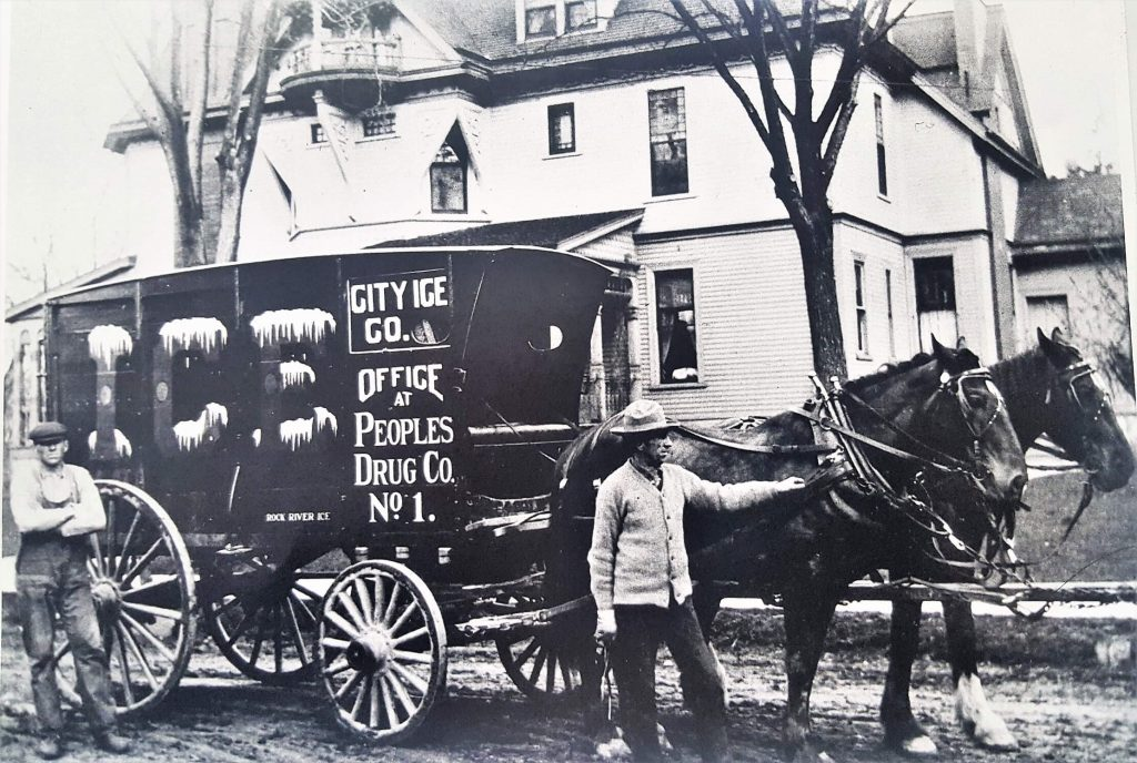 An Ice Delivery Wagon