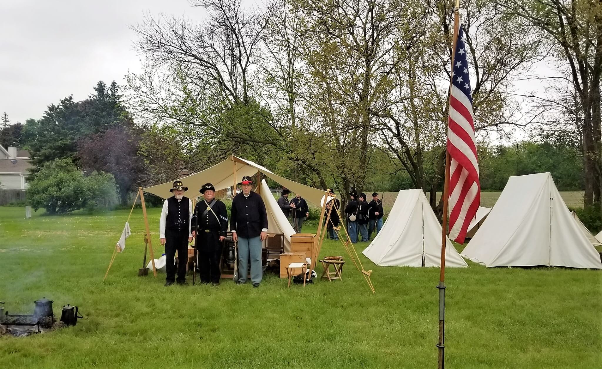 Civil War Military Camp Reenactment