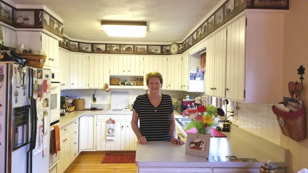 Donna Luety in her kitchen