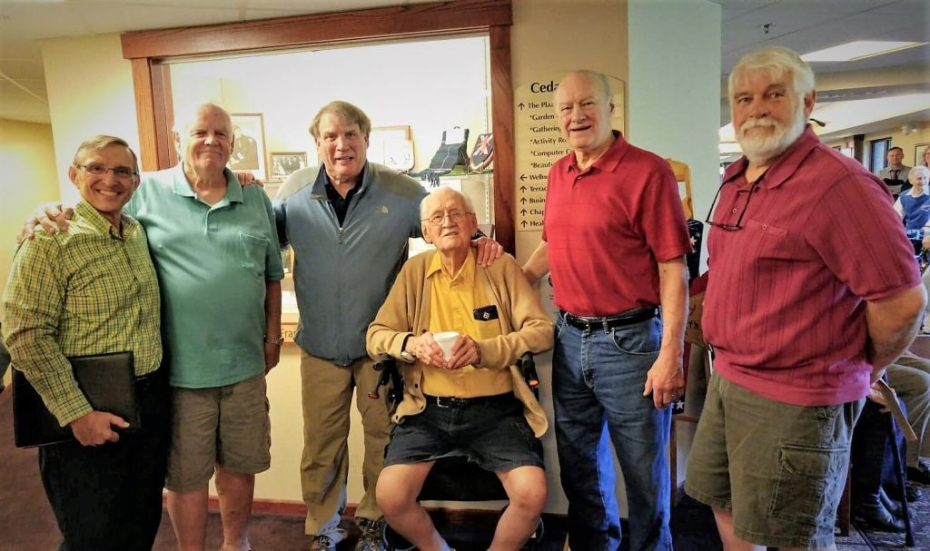 L-R Santo Carfora, Jim Strawn, Kurt VanGalder, Frank Douglas, Ron Ganong, and Glen Disrude