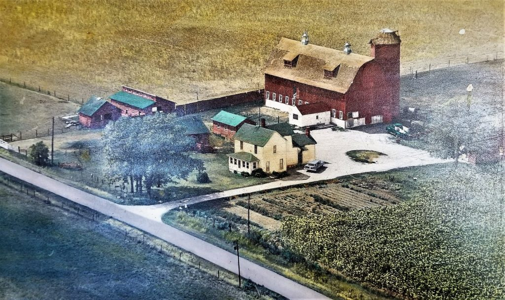 Aerial view of Harry Hauri's farm