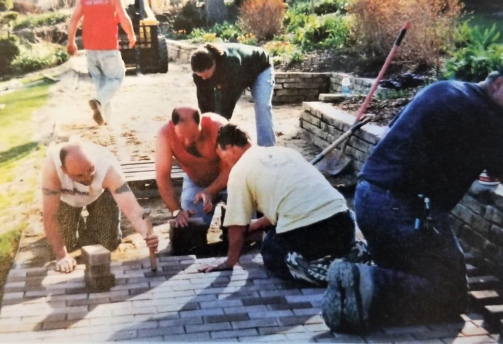 Building the path - Where Tears Run Deep at Rotary Botanical Gardens