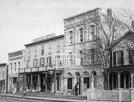 Commercial Hotel, Janesville, Wis., ca 1880