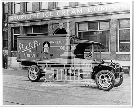 Shurtleff's Ice Cream delivery truck