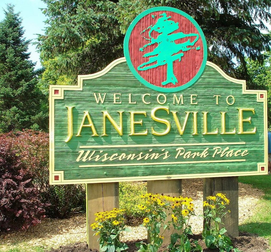 Janesville City of Parks sign