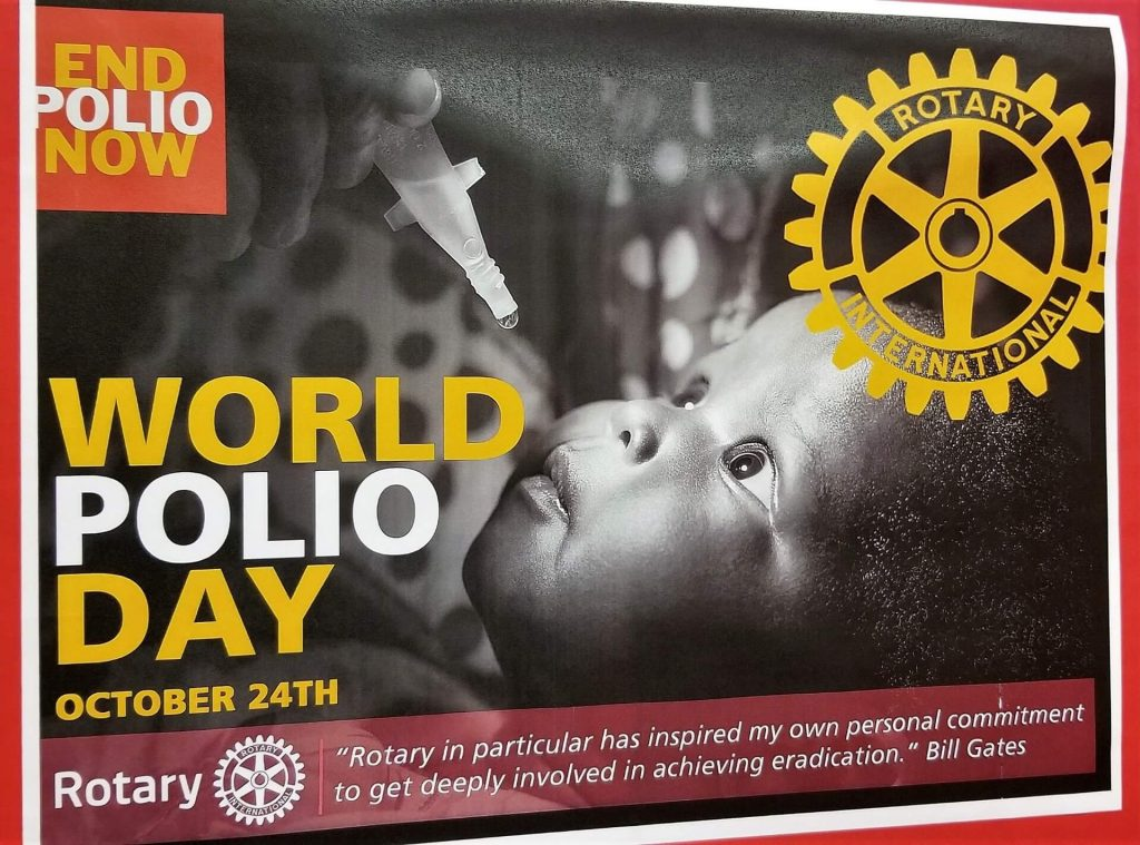Eradicating Polio is a top priority for the Rotary Club