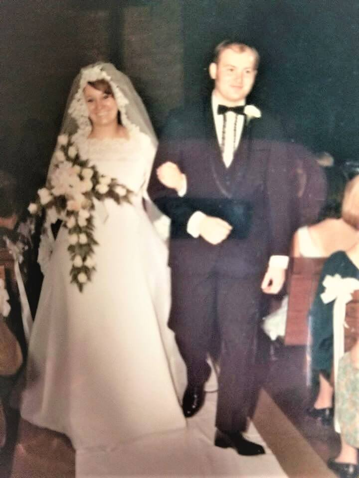 Jim and Gayle Dumke's Wedding Day