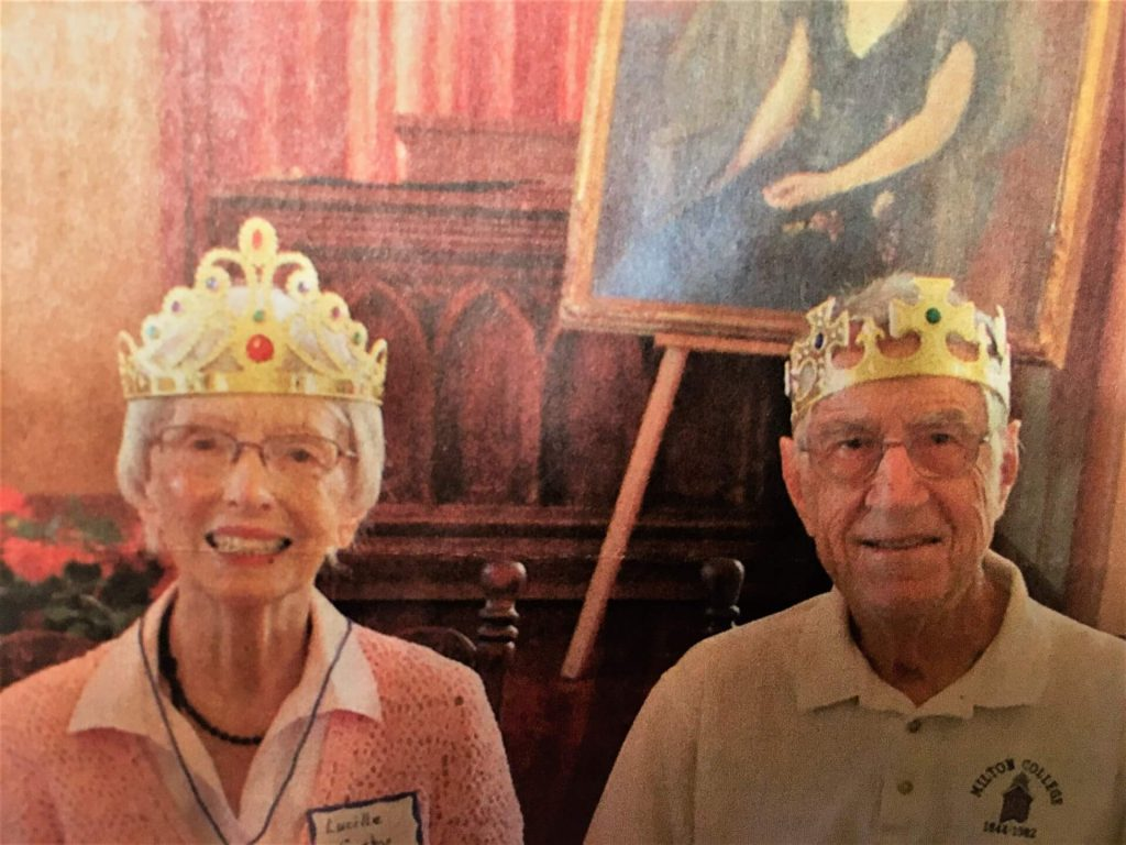 Queen Lucille at 100, and King Paul Green at 82