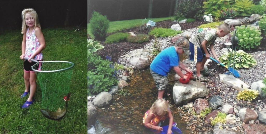 Grandchildren explore Milly's backyard wildlife