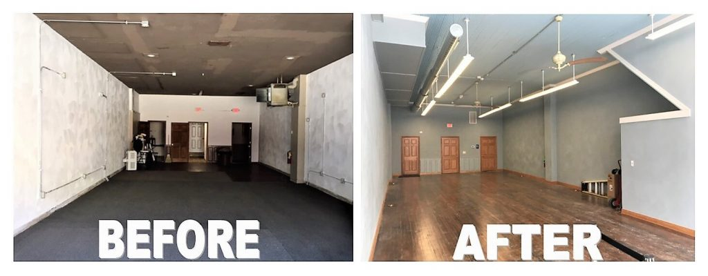 Before and After Murphy Building Renovation