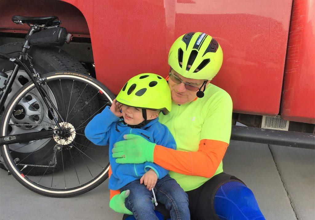 Grandpa Explaining to Mason About Helmets