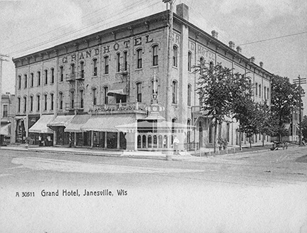Grand Hotel, Janesville, Wis., with awning