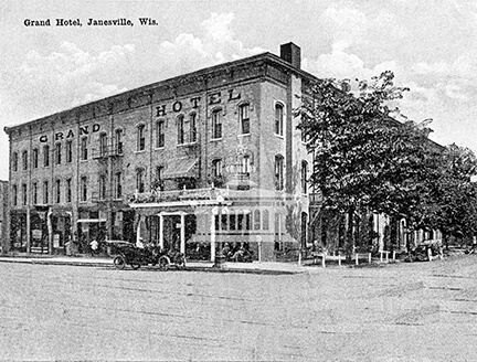 Grand Hotel, Janesville, Wis., With Trees