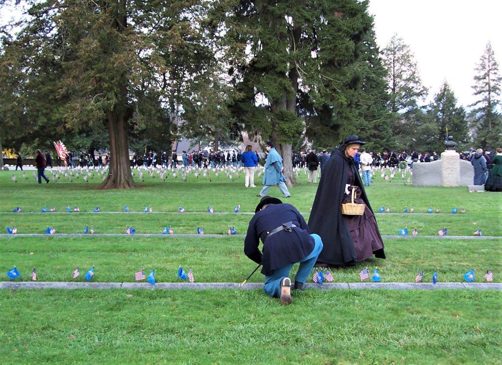 Placing Flags at Gettysburg