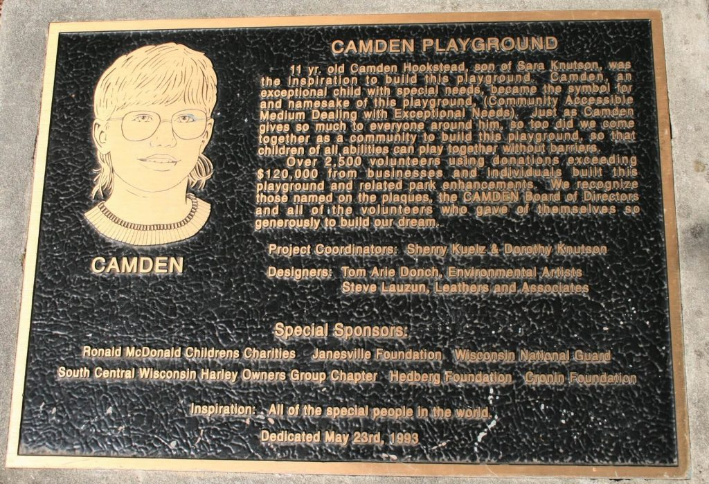 Plaque at the Playground