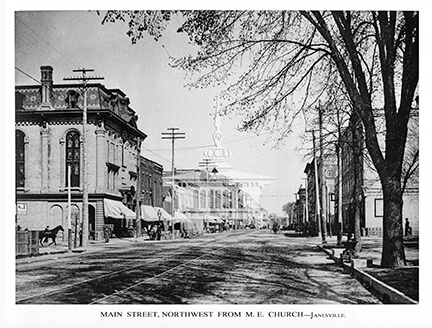 Main Street, Northwest from M.E. Church, 1893