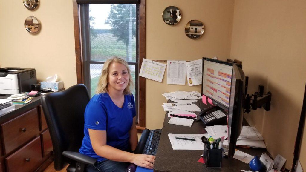 Sandy Larson in her office
