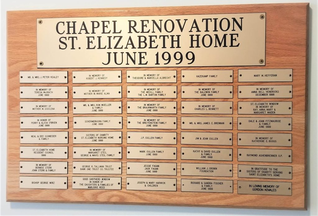 Community Support for the Chapel Renovation