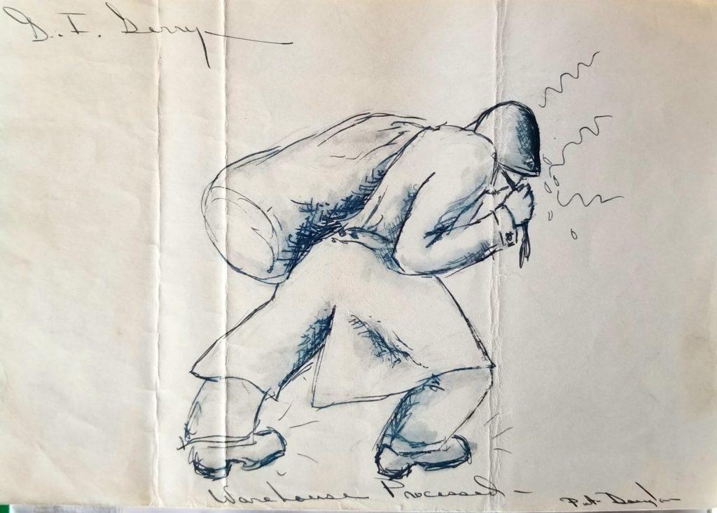 Sketch by Dick Douglas