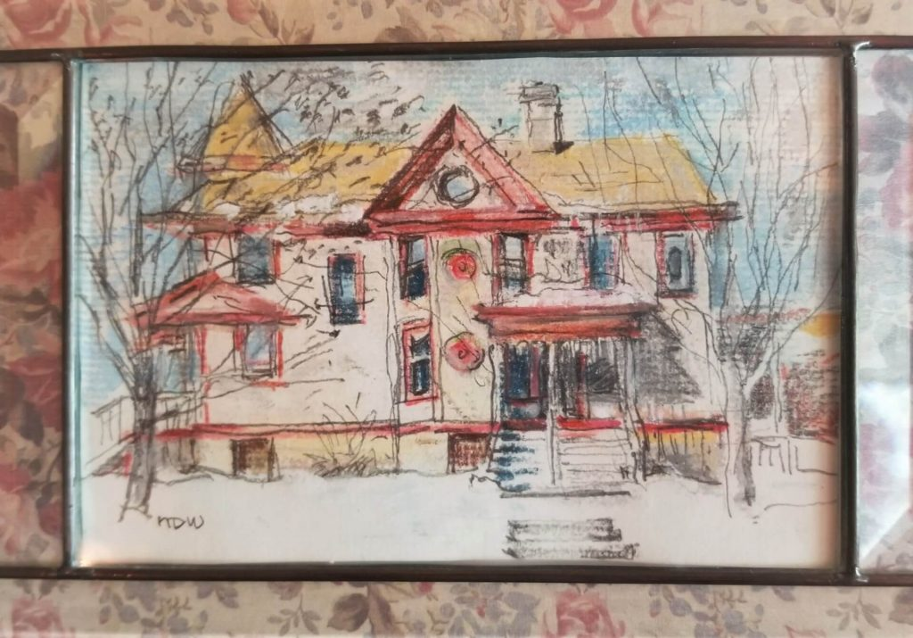 Sketch of Jackie's Home by Nancy Wood