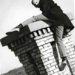 Stan Milam on chimney of LTH