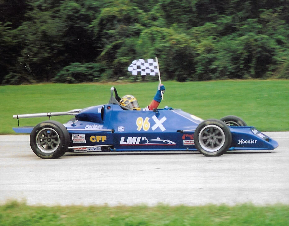 Stan Milam victory lap in Formula Ford in 2006