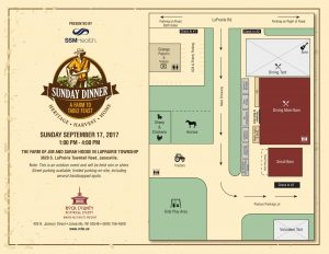 Sunday Dinner 2017 Map