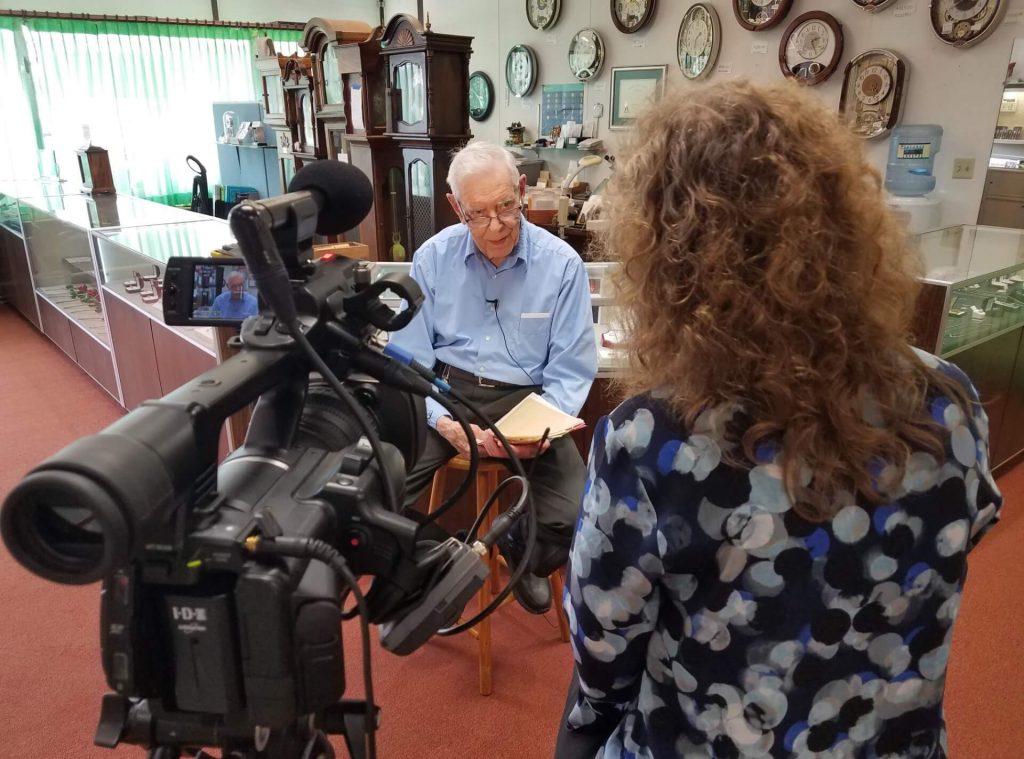 Tess interviewing Ken Corey