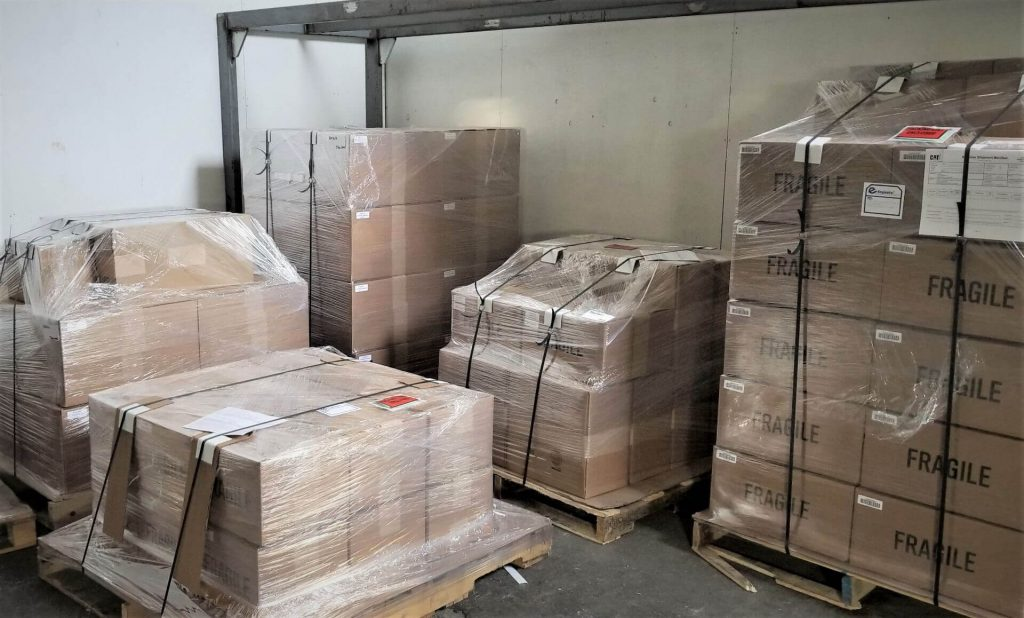 Shipments heading to Thailand, China and the US