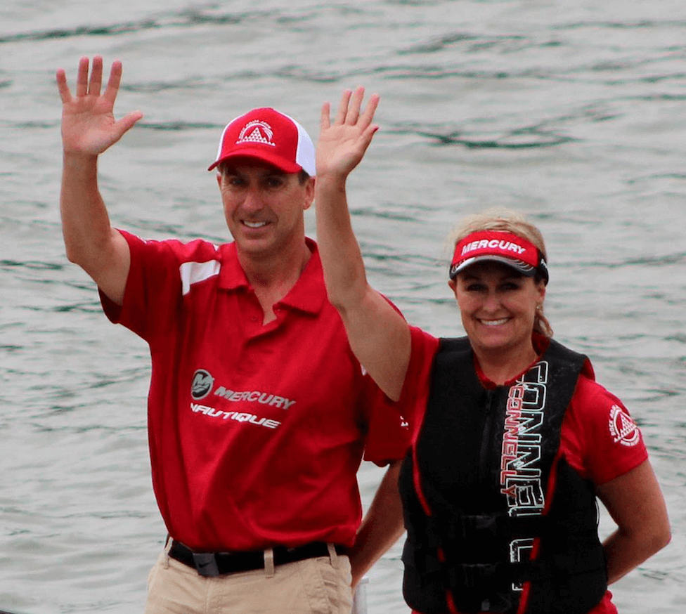 Tim Cullen and Jennifer Thomas - Boat Driving 2016