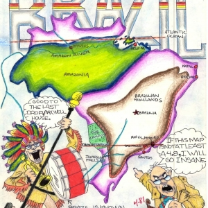 A detailed map of Brazil by Douglas' student, Daniel Larsen