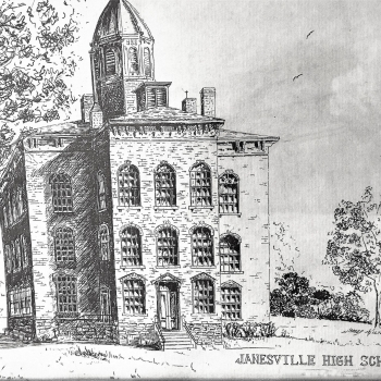 Janesville High School in 1859